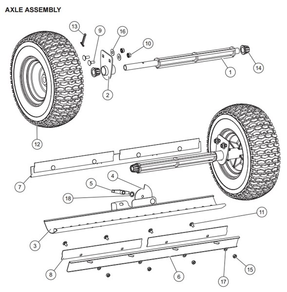 WESTERN_Walk-Behind_DROP_Spreader_WB-160D__85201_Axle_Assembly