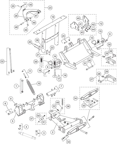 UM_wide-out-lift_frame_and_a-frame_components