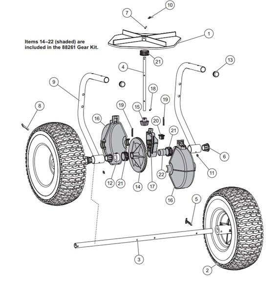 WESTERN_Walk-Behind_BROADCAST_Spreader_WB-100B__85101_Axle_Assembly